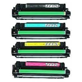 PACK TONER COMPATIBLE HP Lj color CP 3525 CE 250A 251A 252A 253A